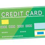 緑色のクレジットカードのイラスト