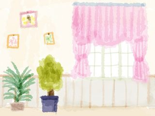 きれいな部屋のイラスト