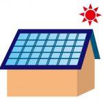 太陽光発電をつけた屋根のイラスト