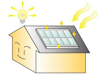太陽光発電をしている家のイラスト