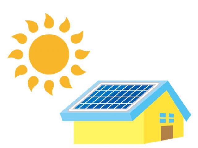 太陽光発電のイラスト